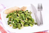 Salad with green beans — Stock Photo