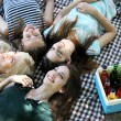 Group of friends having rest at park — Stock Photo #49529841