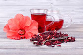 Hibiscus tea and flower — Stockfoto