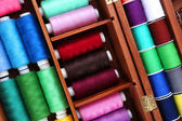 Colorful threads for needlework — Stock Photo