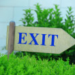 Exit sign at park — Stock Photo #49530305