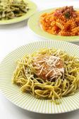 Italian pasta on table, close-up — Stock Photo