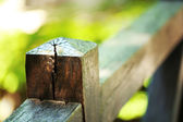 Wood fence in park — Stock Photo