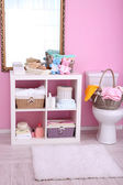 Shelves in bathroom — Stock Photo