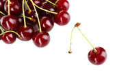 Sweet cherries isolated on white — Stock Photo