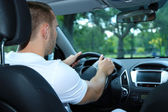 Man driving car — Stock Photo