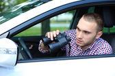 Uomo in auto — Foto Stock