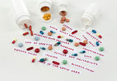 Prescription drug lottery, close-up — Stock Photo