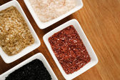 Variety of different sea salt — Stock Photo