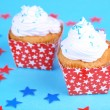 American holiday cupcakes — Stock Photo #49775931