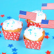 American holiday cupcakes — Stock Photo #49775937