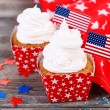 American holiday cupcakes — Stock Photo #49775941