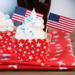 American holiday cupcakes — Stock Photo #49775947