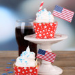 American holiday cupcakes — Stock Photo #49775949