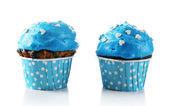 Tasty cupcake isolated on white — Stock Photo