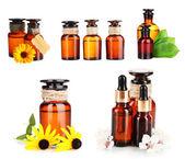 Collage of medicine bottles — Stock Photo