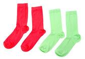 Colorful socks isolated on white — Stock Photo