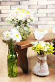 Interior decoration with flowers — Stock Photo