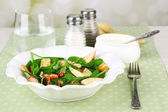Green salad with spinach — Stock Photo