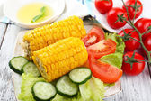 Grilled corn cobs — Stock Photo