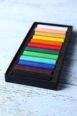 Chalk pastels in box — Stock Photo