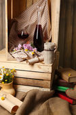 Still life with bottles of wine — Stock Photo