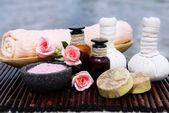 Rimedi erboristici per massaggio — Foto Stock