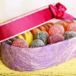 Present box with sweets — Stock Photo #49850847
