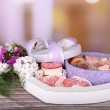 Present box with sweets — Stock Photo #49850931