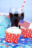 American holiday cupcakes — Stock Photo