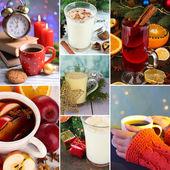 Noel içecekler kolaj — Stok fotoğraf