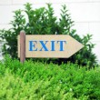 Exit sign at park — Stock Photo #49883883