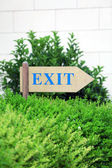Exit sign at park — Stock Photo