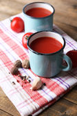 Homemade tomato juice — Stock Photo