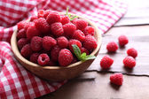 Ripe sweet raspberries — Stock Photo