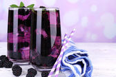 Tasty cool blackberry lemonade — Stock Photo