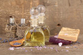 Spa still life with lavender oil — Stock Photo