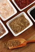 Sea salt in bowls — Stock Photo
