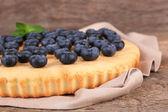 Homemade pie with blueberries — Foto de Stock