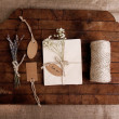 Natural style handcrafted gift box — Stock Photo #49962523