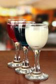 Tasty color liquors — Stock Photo