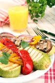 Delicious grilled vegetables — Stock Photo