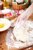 Pasen taart voorbereiden — Stockfoto
