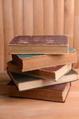 Old books on table — Stock Photo