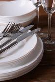 белая посуда — Стоковое фото