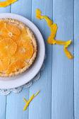 Homemade orange tart — Stock Photo