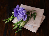 Old letters and flowers — Stock Photo