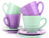 Bright cups and saucers — Foto Stock