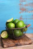 Fresh juicy limes — Stock Photo