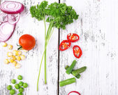 Different kind of raw vegetables — Stock Photo